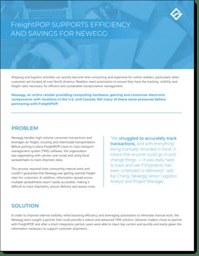 freightPOP Newegg Case Study